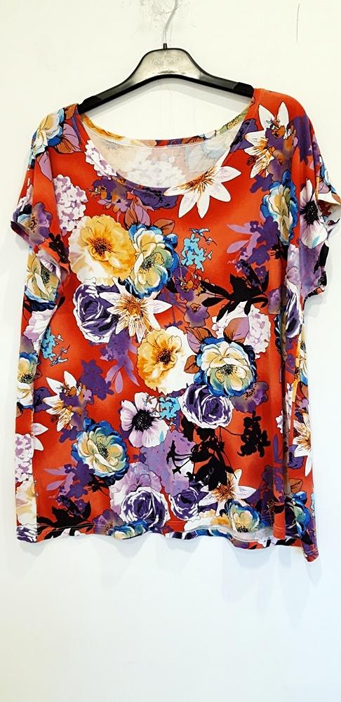 bluzka w kolorowe kwiaty 46