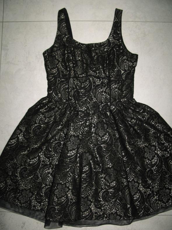 Suknie i sukienki NEXT czarno złota rozkloszowana sukienka roz 36