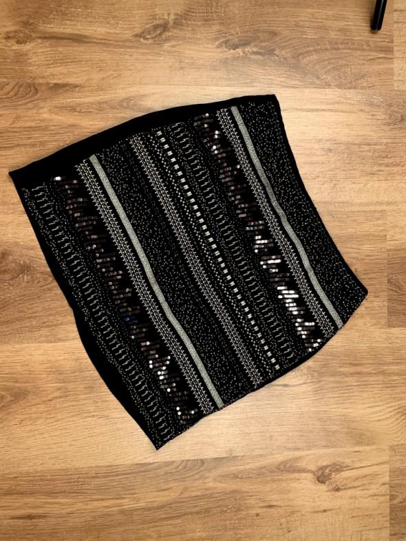 Mini spódnica czarna z koralami...