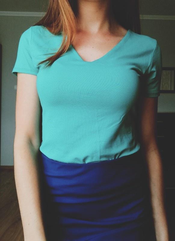 Bluzeczka jednokolorowa