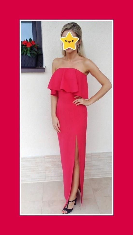 Długa piękna suknia
