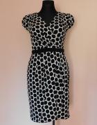 New York & Company sukienka czarna biała midi 38...