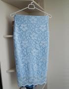Koronkowa błękitna spódnica BooHoo XS...