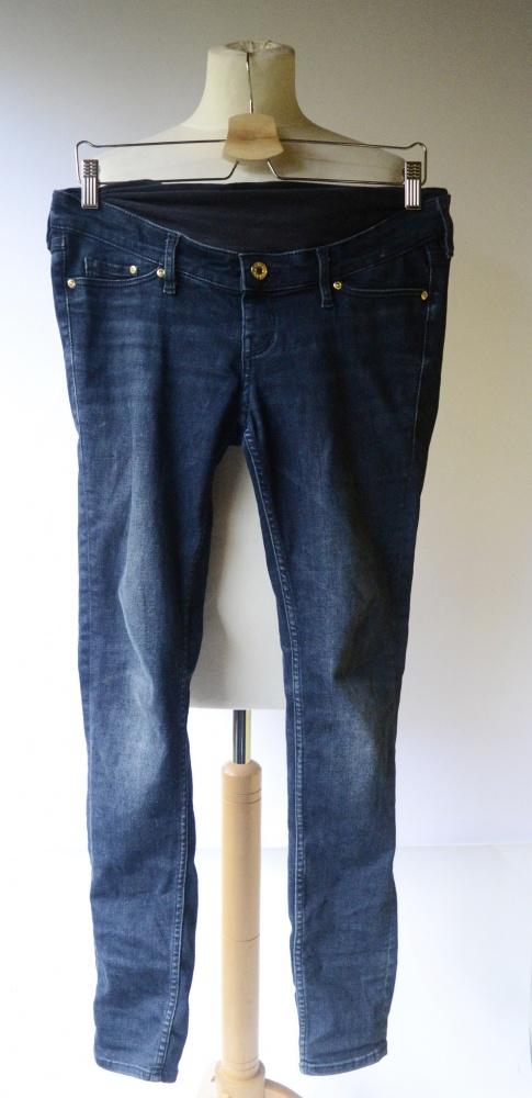 Spodnie Ciążowe H&M Mama Ciąża Dzinsy Rurki M 38 Skinny...