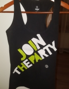 czarny top zumba join the party...