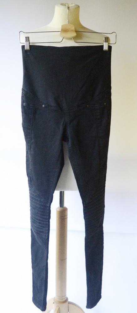 Spodnie Przeszycia H&M Mama Czarne Rurki XS 34 Tregginsy