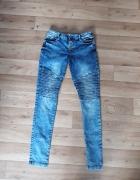 Nowe modne Jeansy przeszycia Denim Co M L...