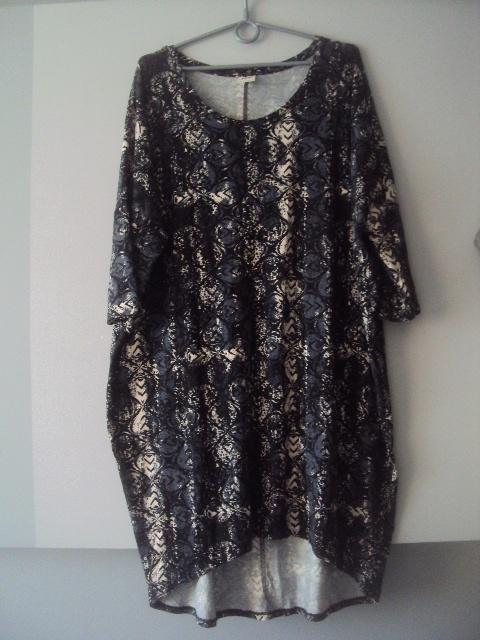asymetryczna sukienka tunika