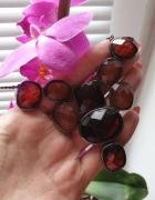 Reserved nowy z metką naszyjnik z brązowymi kryształkami...