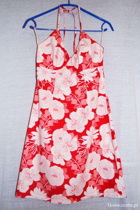 Malinowa czerwień sukienka 38H&M