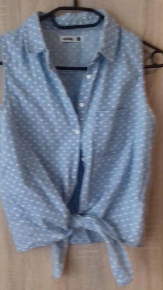 Bluzki bluzka dżinsowa wiązana