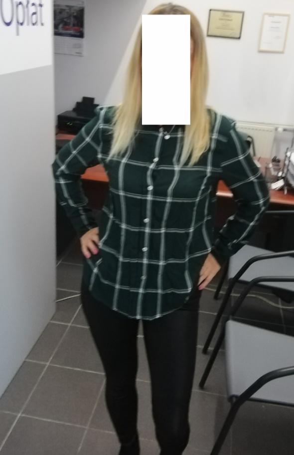 HM Koszula w kratę ciemnozielona...