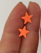 Kolczyki wkrętki gwiazdki pomarańczowe...