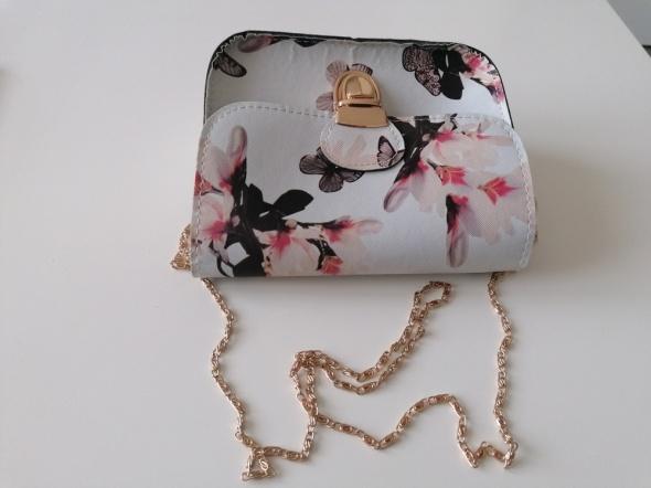 mała torebka motylki kwiatki...
