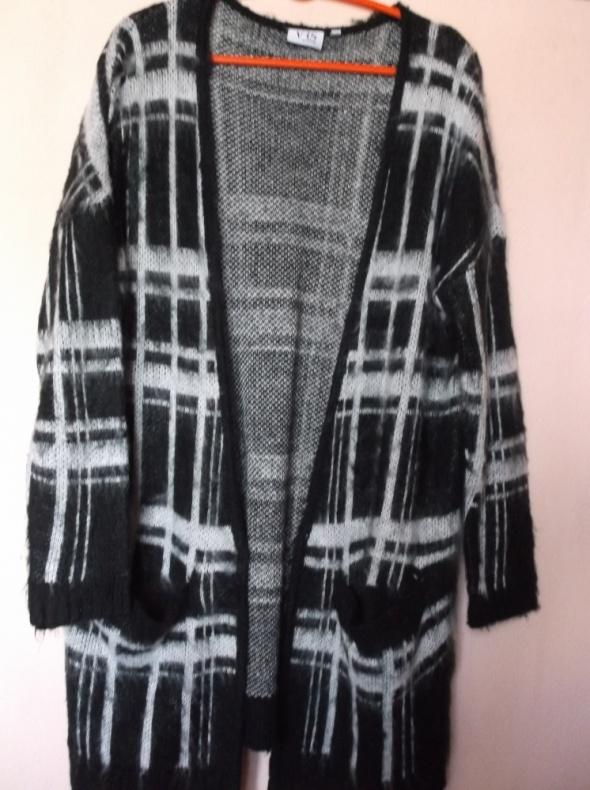 Sweter kardigan w kratę VRS SM