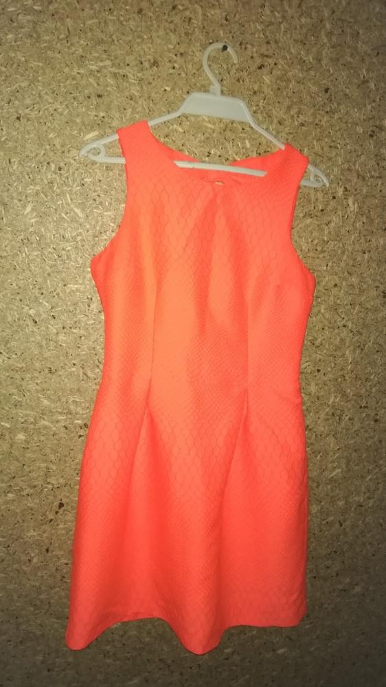 Mohito Pomarańczowa neonowa sukienka z wycięciami 38