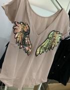 Tunika sukienka skrzydła beż cekiny...
