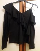 Czarna asymetryczna bluzka Reserved...