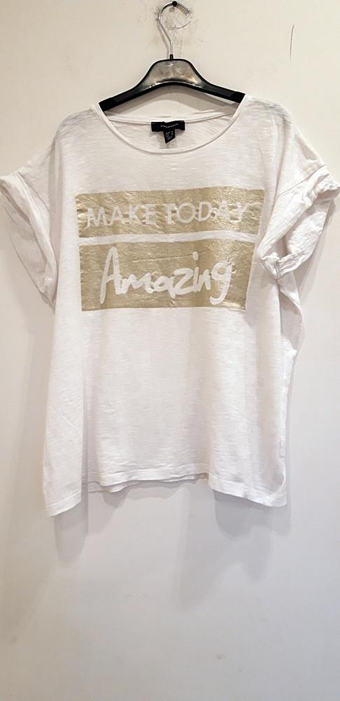koszulka biała ze złotym Atmosphere 46