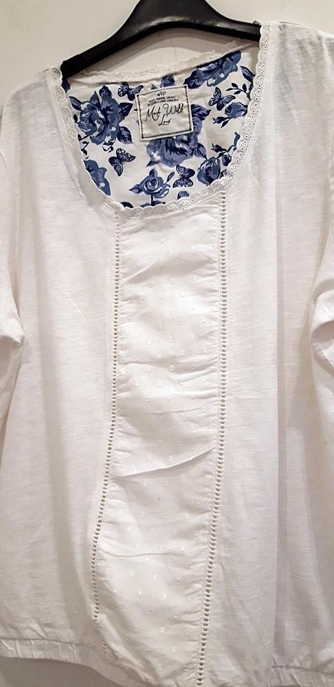 biała bluzka 44 46