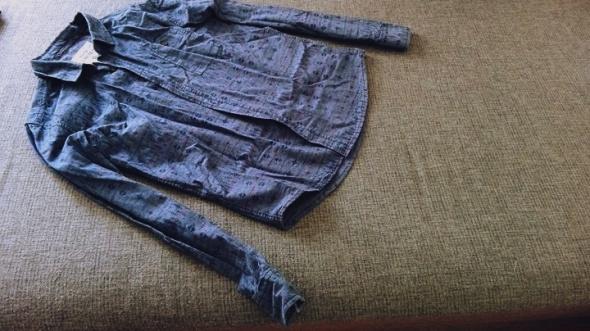 męska koszula dżinsowa aztecka denim 73 limited M