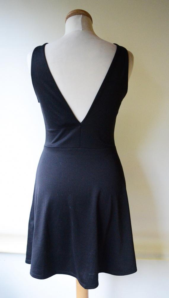 Sukienka H&M Czarna Odkryte Plecy M 38 Wizytowa