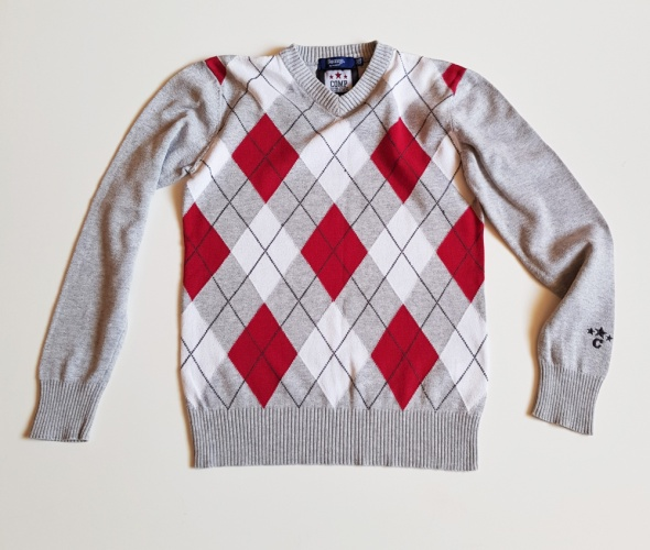 COMP by KappAhl Sweterek w romby dla chłopca Rozm 146 152