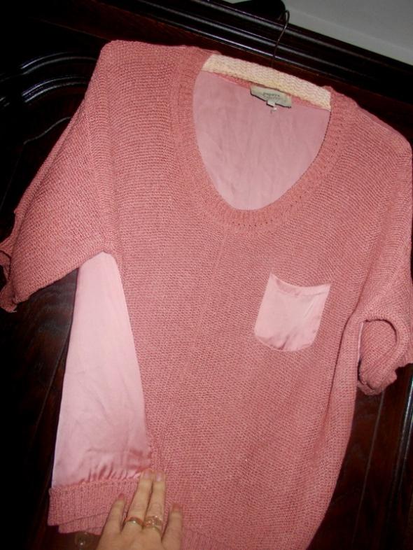super sweterek pudrowy róż 42 44