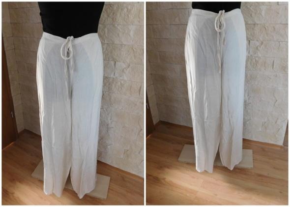 Spodnie plażowe len 42 44 46 L XL XXL lato lniane