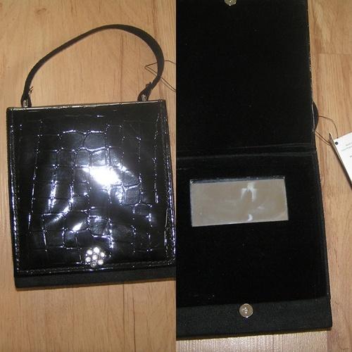 Szkatułka na biżuterię kosmetyki torebka z lusterk