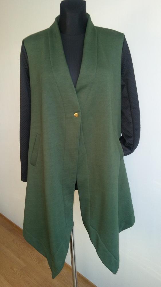 Dresowy płaszcz asymetryczny