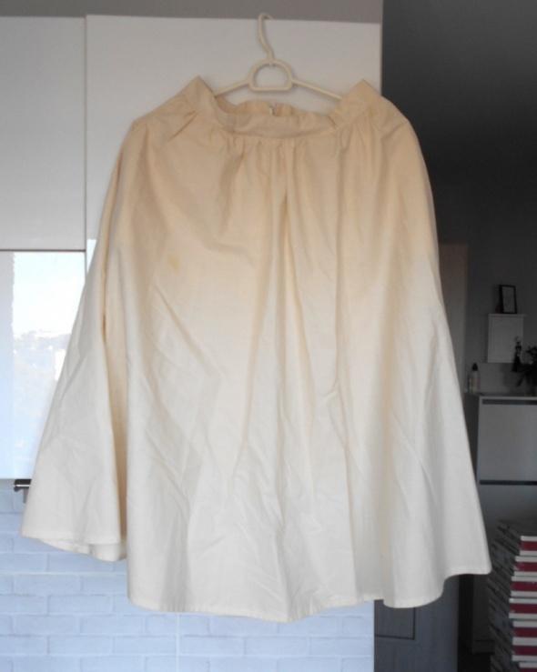 Bodum kremowa spódnica midi rozkloszowana vintage