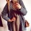 Sweter Damski szary ciepły M L
