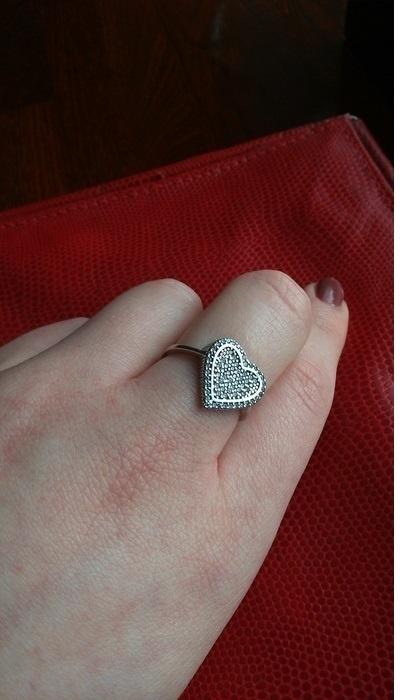 Srebrny pierścionek z oczkiem w kształcie serca