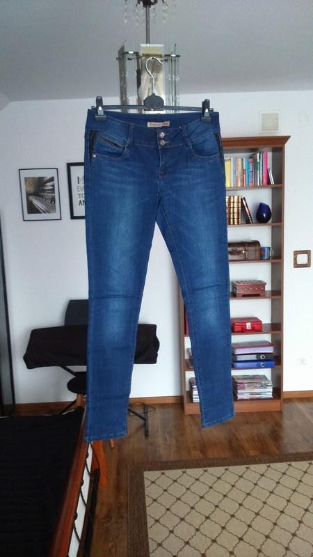Spodnie jeansowe rurki wysoki stan