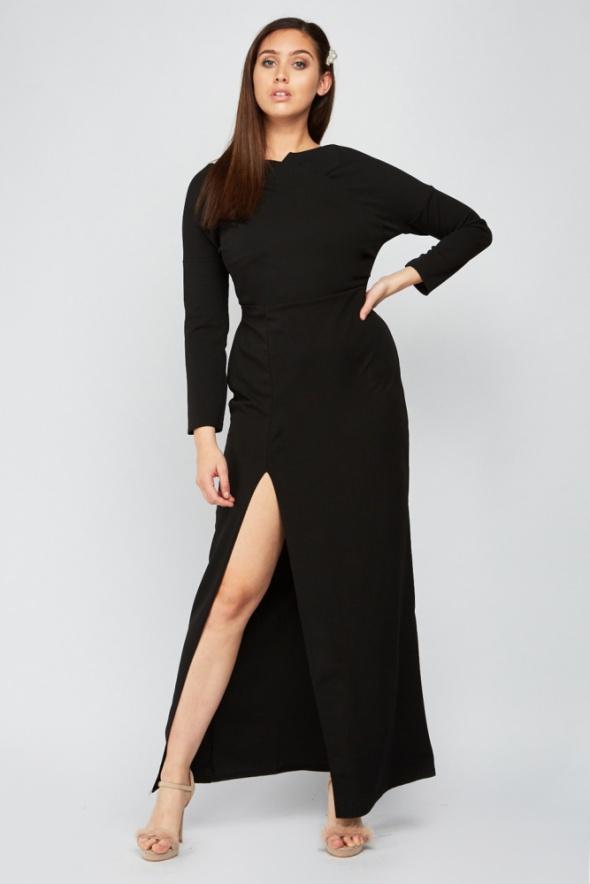 Nowa czarna sukienka Pink Clove 46 XXXL 3XL duga maxi elegancka wieczorowa
