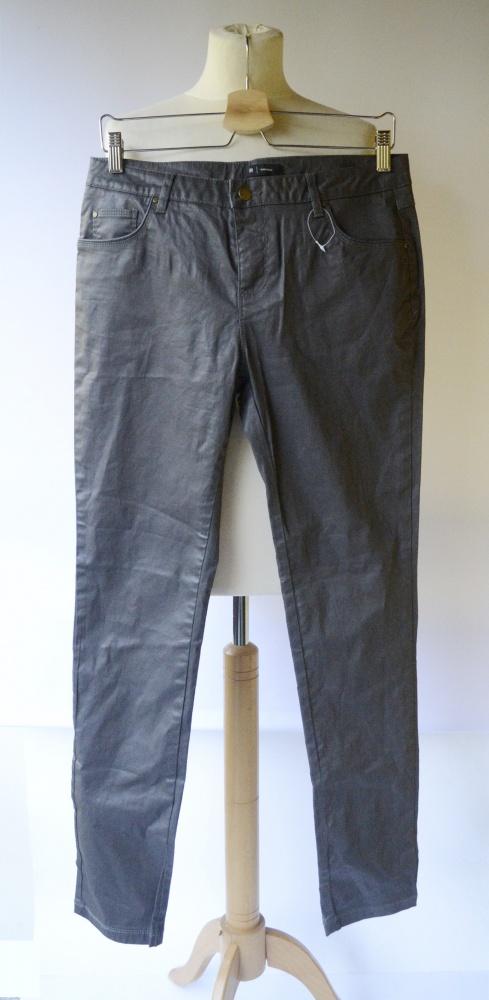 Spodnie Woskowane La Redoute L 40 Szare Rurki
