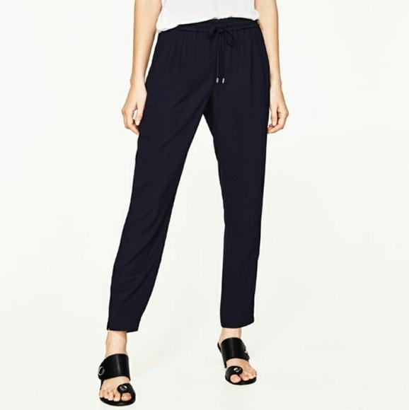 Zara granatowe spodnie S