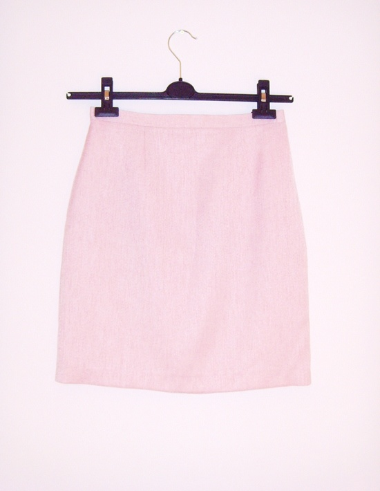 Spódnica pudrowy róż pastelowa jak nowa 36 klasyka