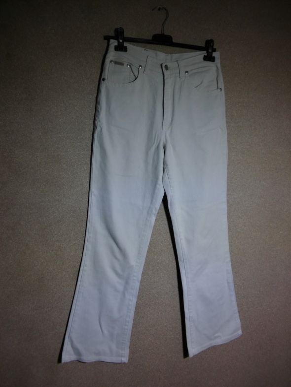 Kremowe jeansy z wysokim stanem 38 Stanley