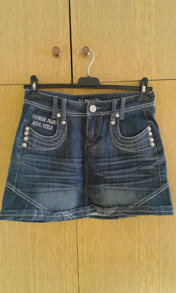 Spódnica jeansowa ciemny jeans