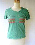 Bluzka Zielona Only XS 34 Bejsbolówka True Love Napis...