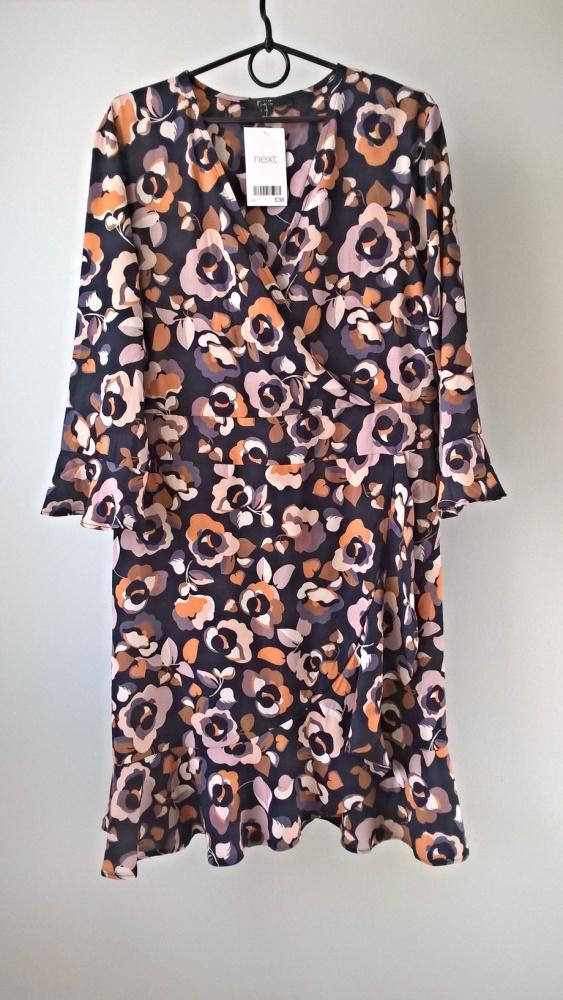 Nowa sukienka w kwiaty NEXT 40 42 floral