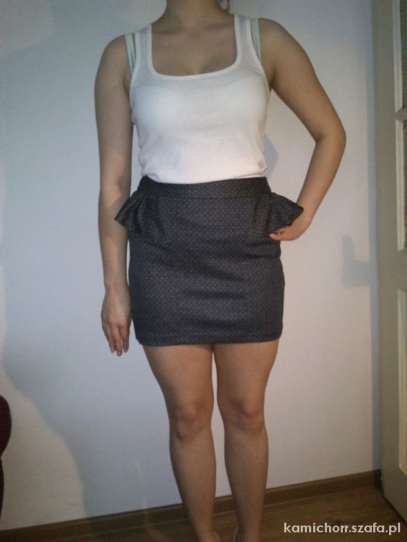 MINI baskinka spódniczka w kropeczki