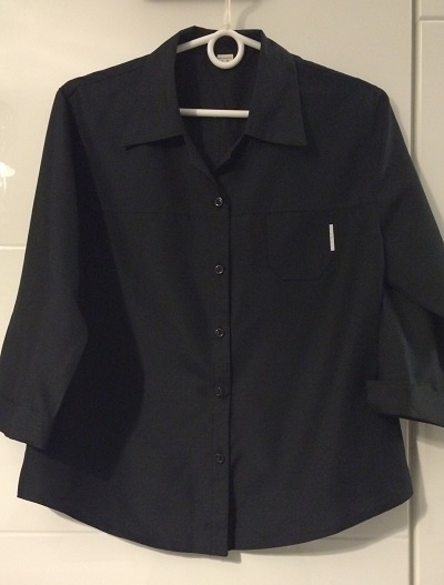 Czarna Elegancka Koszula Bluzka XL 42 L 40 38 M