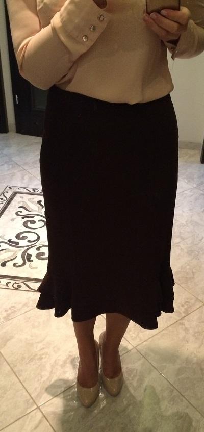 Spódnica Ołówkowa z Falbanką Diana 38 M