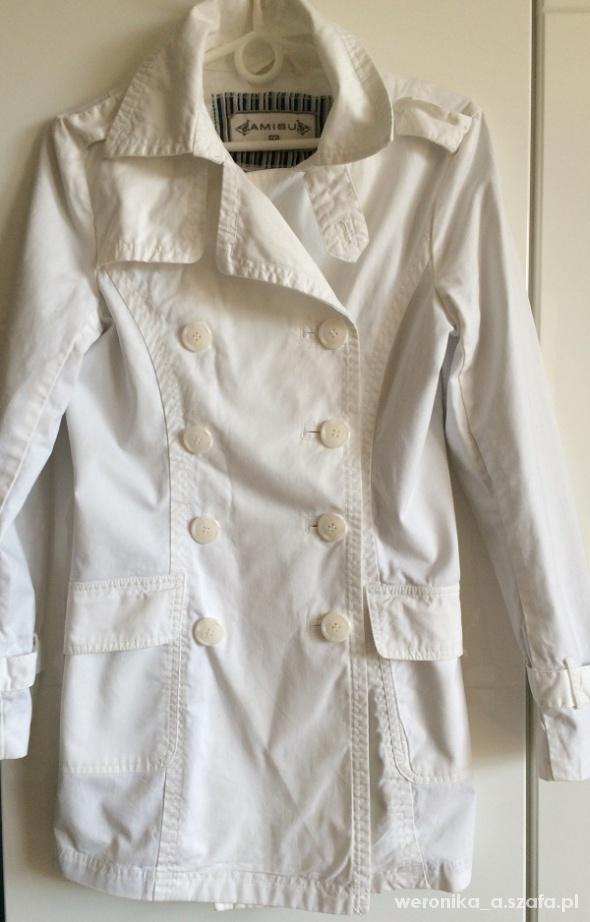Biały Płaszcz Amisu 34 XS