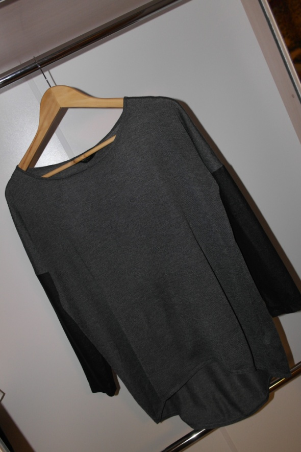 Reserved bluzka oversize zamszowe rękawy r S