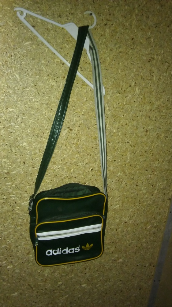 Adidas Zielona duża torba sportowa