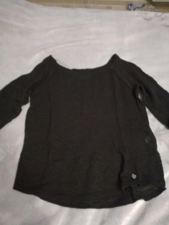 Bluzki Czarna bluzka cropp